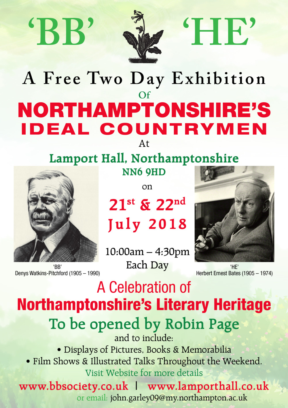 Northamptonshire's Ideal Countrymen, BB Society Exhibition