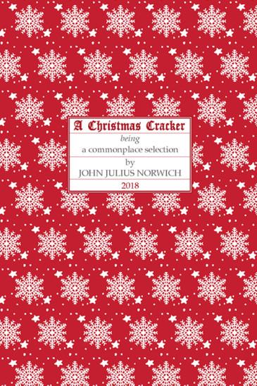 Slightly Foxed, Christmas Cracker 2018, John Julius Norwich