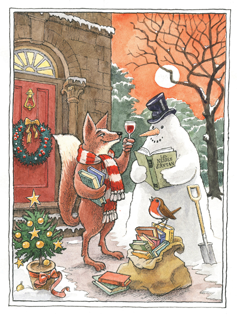 Pack of Christmas Cards: No. IV, Toasting the Snowman