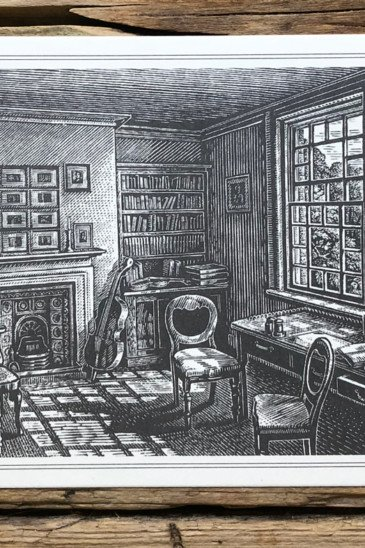 Slightly Foxed Postcards Hardy's Study at Max Gate