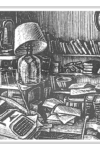 Slightly Foxed Postcard The Workroom by Howard Phipps