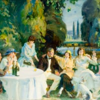 The Munnings Art Museum - Slightly Foxed Membership Benefits - Tagg's Island, 1919, copyright the estate of Sir Alfred Munnings