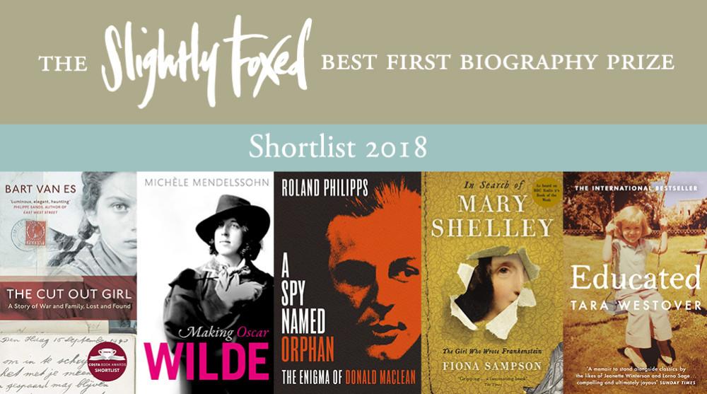 Biography Prize 2018 Shortlist
