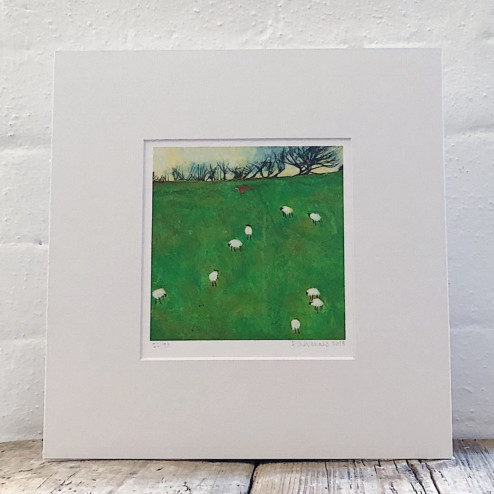 Fox and Sheep, Tamar Valley: Limited Edition Print