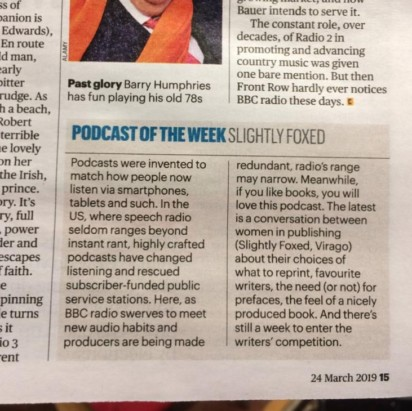 Slightly Foxed Sunday Times Podcast of the Week