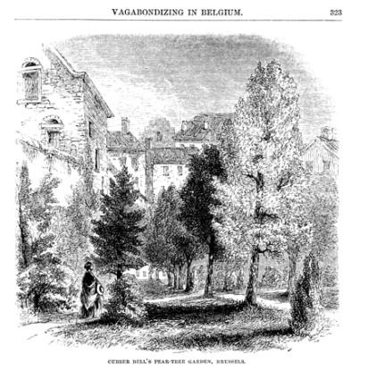 The Pensionnat Heger garden, Harper's Monthly 1858 | Helen MacEwan, Charlotte Brontë - Slightly Foxed Issue 61