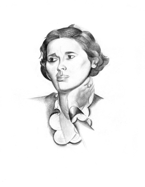 Rebecca West by Wyndham Lewis - Rebecca Willis on Saga of the Century, Slightly Foxed 62