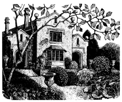 Claire Dalby, Nettlecome, Garden in October - Anthony Longden on Ruth Adam, A House in the Country 2