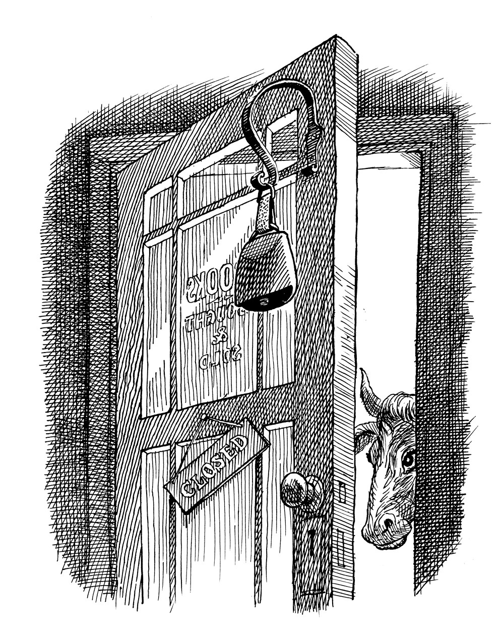 B. Lodge illustration - Glynn Frewer, on second-hand bookselling
