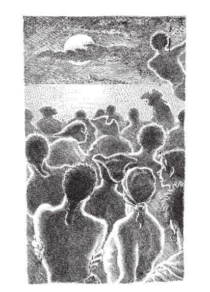 Mervyn Peake, Sighting the island - Christopher Rush, Robert Louis Stevenson, Treasure Island - Slightly Foxed Issue 17