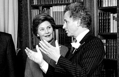 George Ramsden with Laura Bush - George Ramsden on Edith Wharton's library. Photography by Kevin Sprague