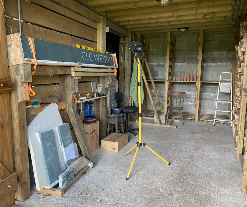 Carving studio | Slightly Foxed Editors' Diary