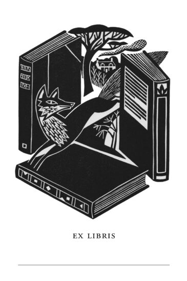 The Slightly Foxed Bookplate | Ex Libris | Clare Curtis