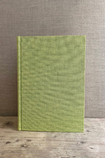 Slightly Foxed Large Lime Green Notebook - Autumn 2020