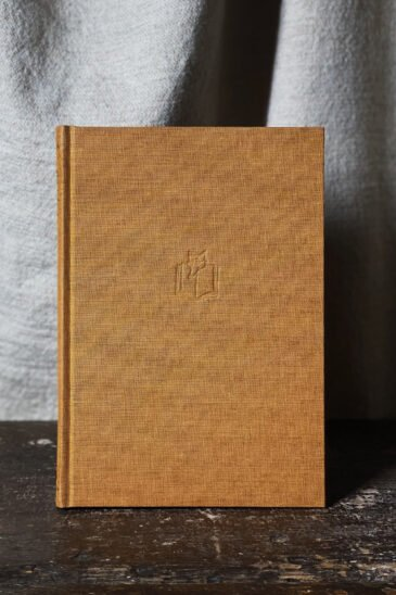 Slightly Foxed Gold Large Notebook