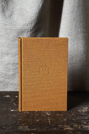Slightly Foxed Small Gold Notebook