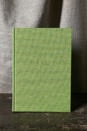 Slightly Foxed Notebook, Lime Green, Large