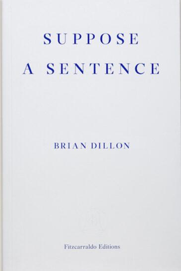 Brian Dillon, Suppose a Sentence