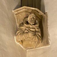Stone monk, Norman Abbey, Tewkesbury | Slightly Foxed Editors' Diary