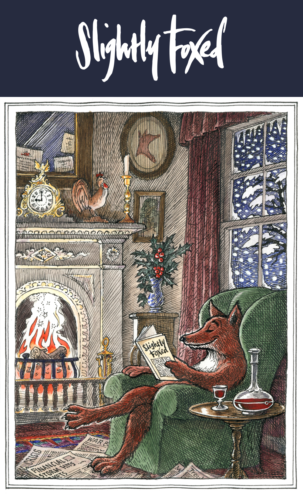 Last call for orders and seasonal reading from Slightly Foxed