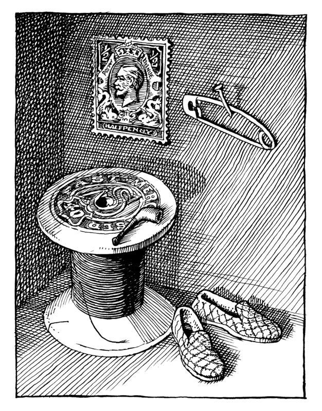 David Eccles illustration | Michael Holroyd on Mary Norton, The Borrowers