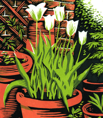 "Slightly Foxed Issue 69, Niki Bowers, '""Spring Green"" Tulips'"
