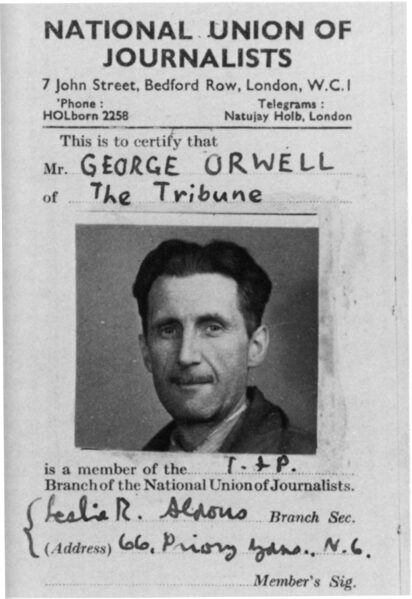 George Orwell, Christopher Rush, SF 69