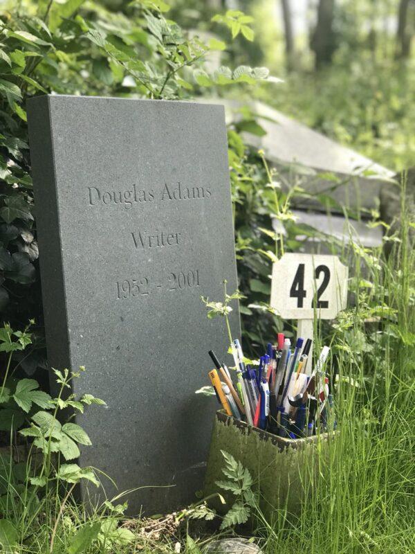 Douglas Adams, Highgate Cemetery | Slightly Foxed Editors' Diary