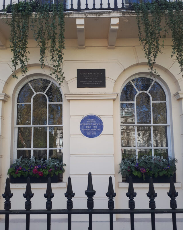 Virginia Woolf Plaque, Fitzroy Square | Slightly Foxed Editors' Diary