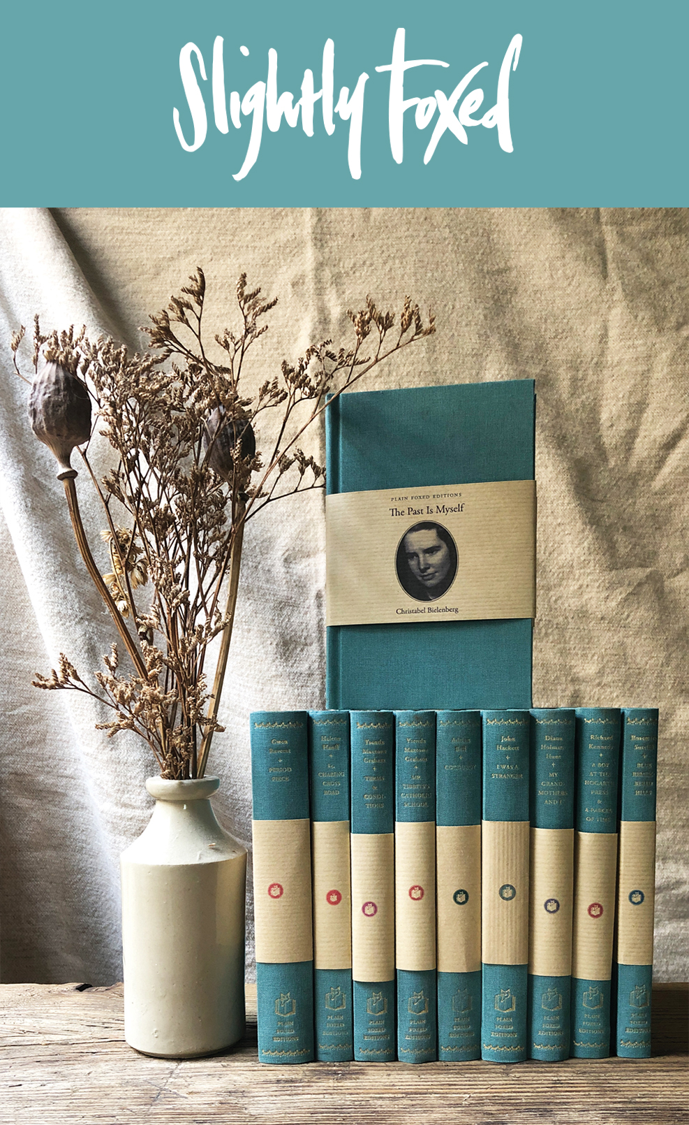 Beautiful books bound in duck-egg blue | Plain Foxed Editions
