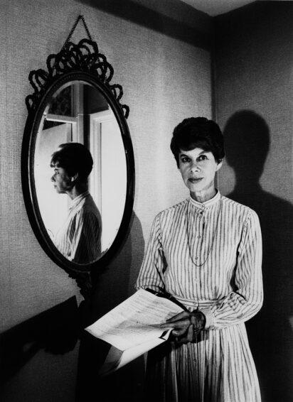 Frances Donnelly on Anita Brookner, Hotel du Lac, SF Issue 71 (copyright estate of Chris Garnham & National Portrait Gallery, London)